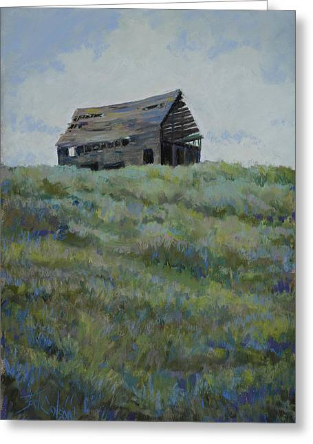 Old Barn Pastels Greeting Cards - Standing Tall Greeting Card by Billie Colson