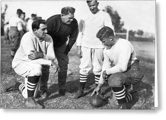 Stanford Coach Pop Warner Greeting Card by Underwood Archives