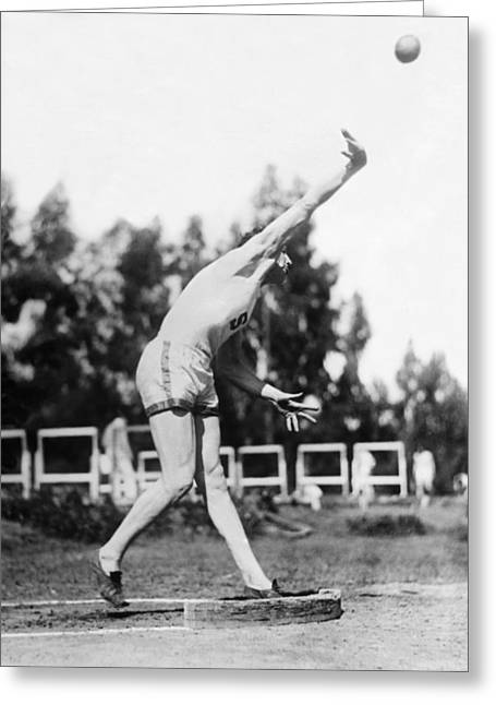 Stanford Field Star Hartranft Greeting Card by Underwood Archives