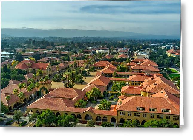 Stanford University Greeting Card by Mountain Dreams