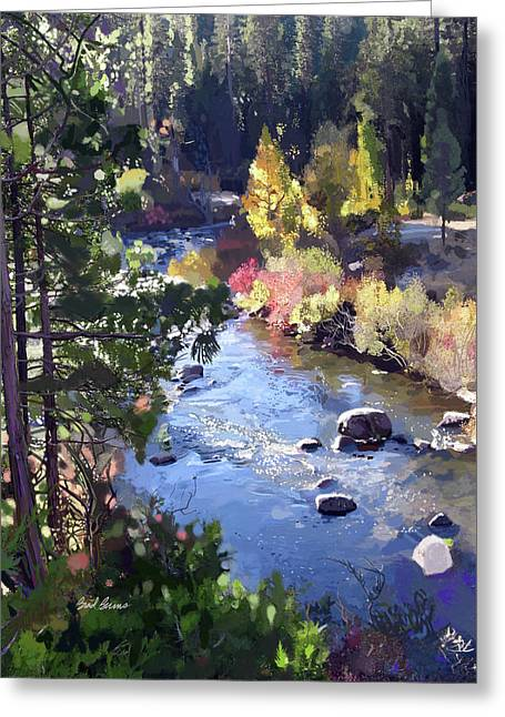 Stanislaus River In Fall Greeting Card by Brad Burns