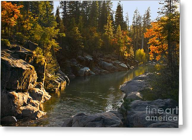 Best Sellers -  - Stream Digital Art Greeting Cards - Stanislaus Sunset Larry Darnell Greeting Card by Larry Darnell