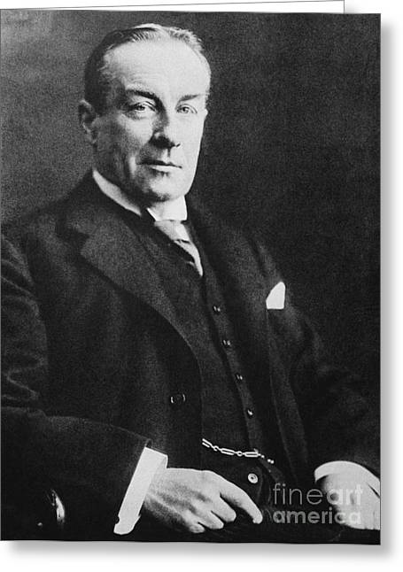 Conservatives Greeting Cards - Stanley Baldwin, English Politician Greeting Card by Photo Researchers