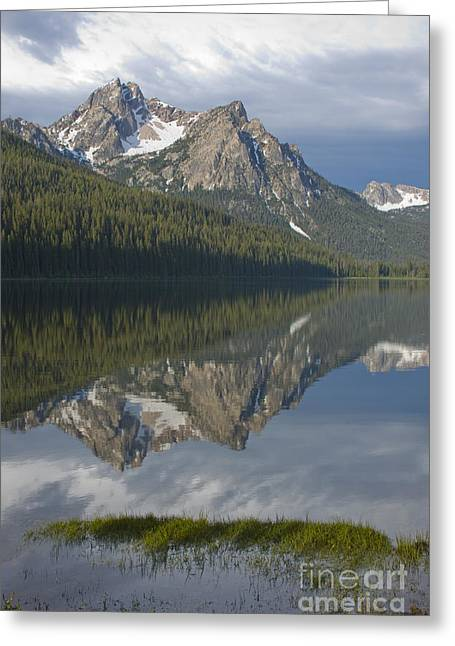 Stanley Lake Reflections Greeting Card by Idaho Scenic Images Linda Lantzy