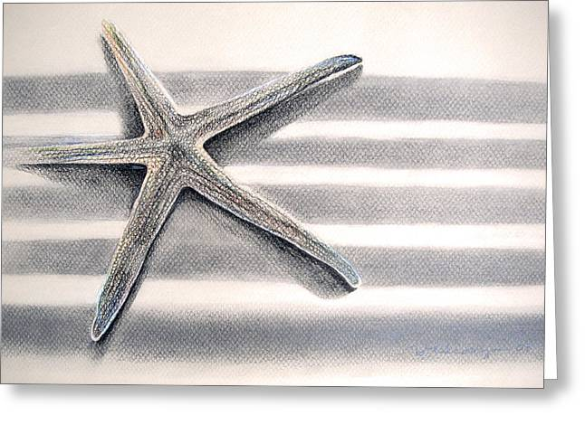 Sun Of Beach Drawings Greeting Cards - Star and Stripes Greeting Card by Dawn Chevoya