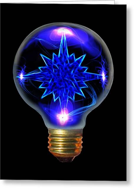 Electrical Mixed Media Greeting Cards - Star Bright Greeting Card by Shane Bechler