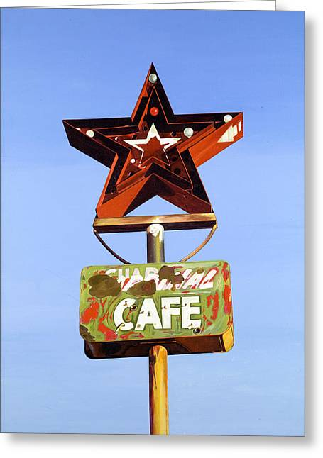 Jeff Taylor Greeting Cards - Star Cafe - Route 66 Texas Greeting Card by Jeff Taylor