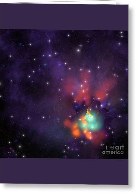 Star Cluster Greeting Card by Corey Ford