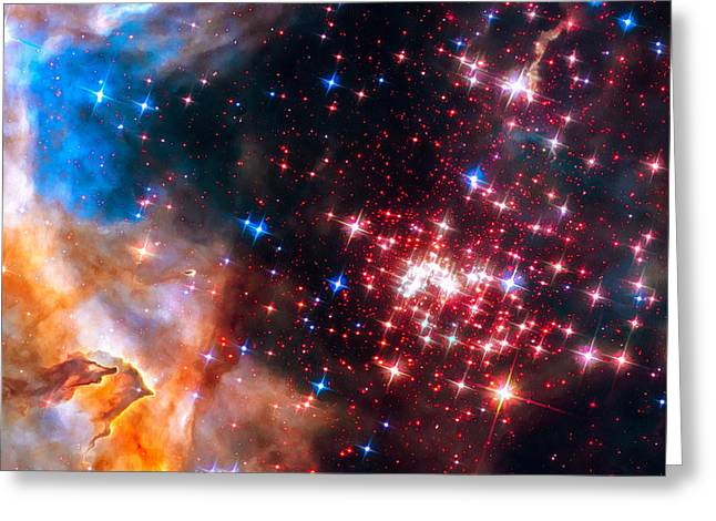 Star Cluster Westerlund 2 Space Image Greeting Card by Matthias Hauser