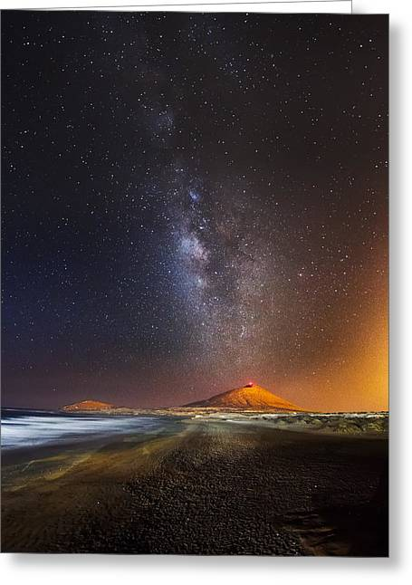 Volcano Greeting Cards - Star Eruption Greeting Card by Ivan Macia