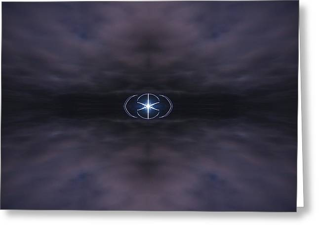 Star In Clouds Greeting Card by Pelo Blanco Photo