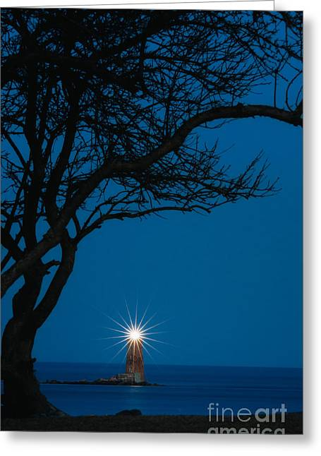 New England Lighthouse Greeting Cards - Star Light star bright Greeting Card by Scott Thorp