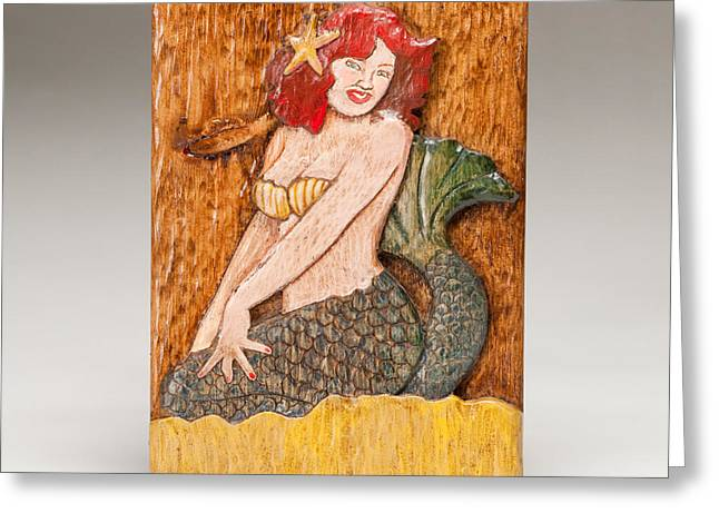 Jonah Reliefs Greeting Cards - Star Mermaid Greeting Card by James Neill