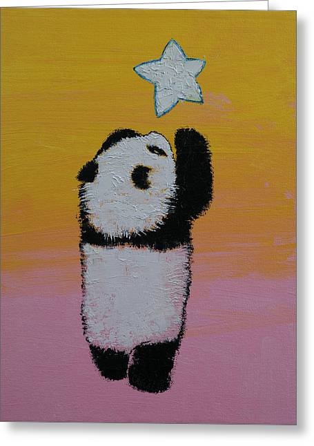 Reaching Up Greeting Cards - Star Greeting Card by Michael Creese