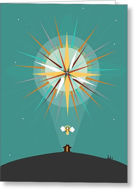 Star Of Bethlehem Greeting Cards - Star of Bethlehem Greeting Card by Ann tygett Jones