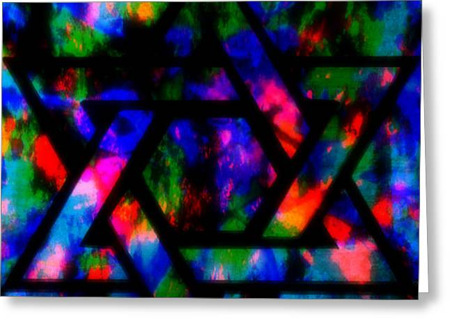 Star Of David Greeting Card by WBK