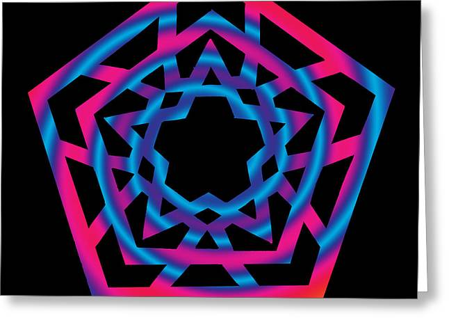 Chromatic Digital Greeting Cards - Star of Enlightenment Greeting Card by Eric Edelman