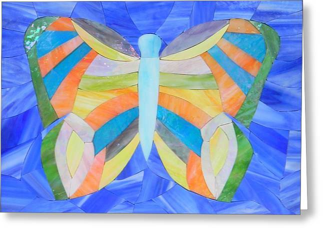 Fantasy Glass Greeting Cards - Star of Persia Butterfly Greeting Card by Charles McDonell