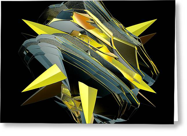 Incendia Greeting Cards - Star Of Yellow Greeting Card by Deborah Benoit