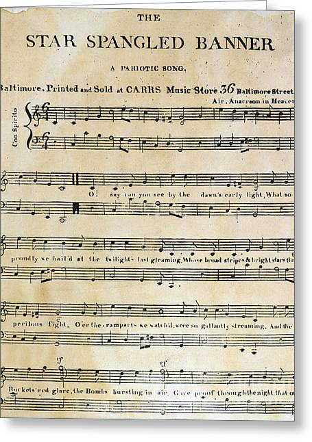 1814 Greeting Cards - Star Spangled Banner, 1814 Greeting Card by Granger