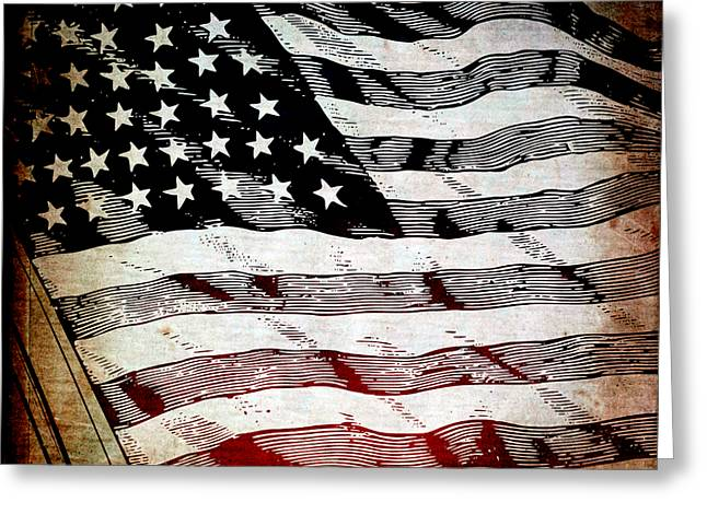 Star Spangled Banner Greeting Card by Angelina Vick