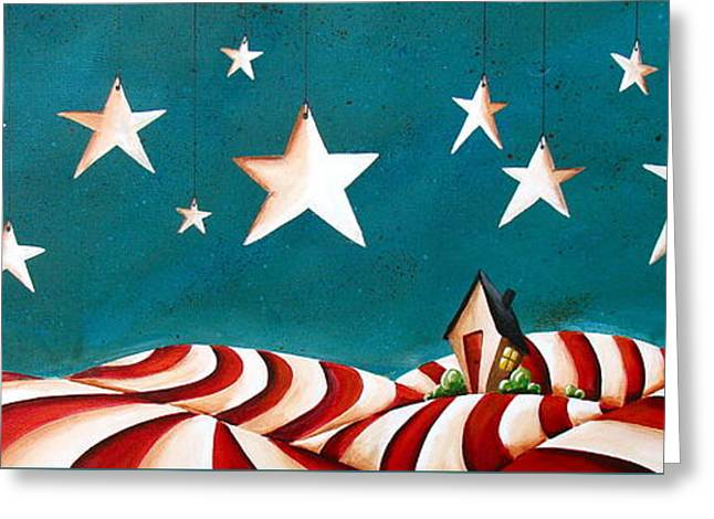 Patriotism Paintings Greeting Cards - Star Spangled Greeting Card by Cindy Thornton