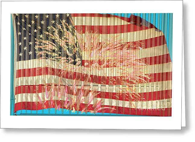 Cellphone Greeting Cards - Star Spangled Pipes Greeting Card by Alan M Thwaites