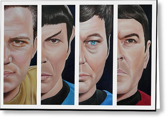 Mccoy Greeting Cards - Star Trek Set One Greeting Card by Vic Ritchey
