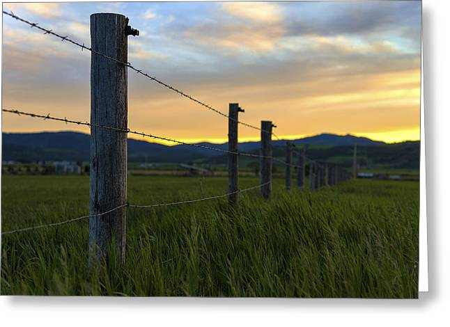 Idaho Greeting Cards - Star Valley Greeting Card by Chad Dutson