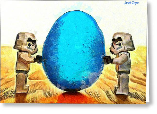 Star Wars Blue Egg - Pa Greeting Card by Leonardo Digenio