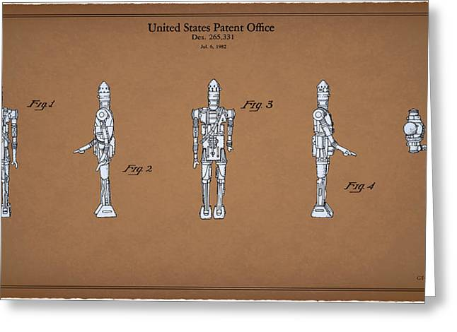 Sci-fi Photographs Greeting Cards - Star Wars - Droid Patent Greeting Card by Mark Rogan