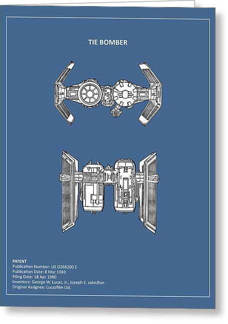 Star Wars Photographs Greeting Cards - Star Wars - Spaceship Patent Greeting Card by Mark Rogan