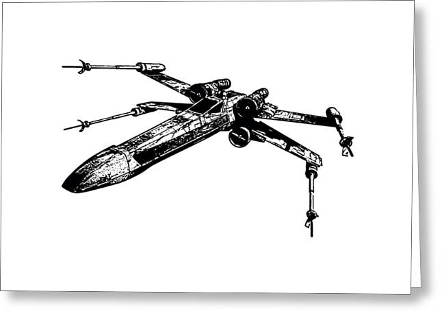 Star Wars T-65 X-wing Starfighter Tee Greeting Card by Emf