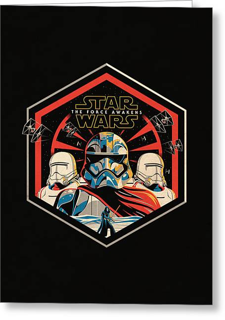 Star Wars - The Force Awakens Greeting Card by Fht