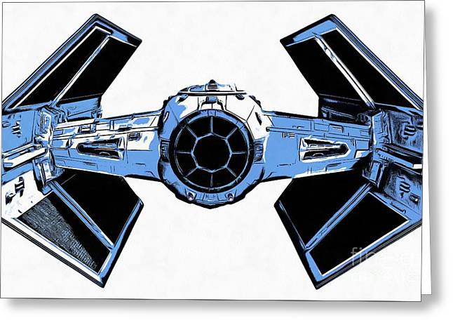 Star Wars Tie Fighter Advanced X1 Greeting Card by Edward Fielding