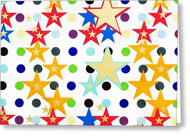 Pop Mixed Media Greeting Cards - Starbitrary Greeting Card by Surj LA