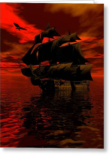 Scifi Greeting Cards - Starboard tack Greeting Card by Claude McCoy