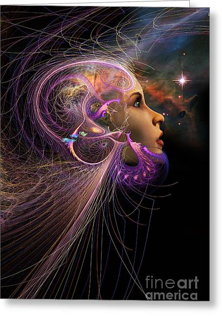 Mysterious Digital Greeting Cards - Starborn Greeting Card by John Edwards