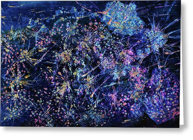 Designers Choice Mixed Media Greeting Cards - Starburst Greeting Card by Don  Wright