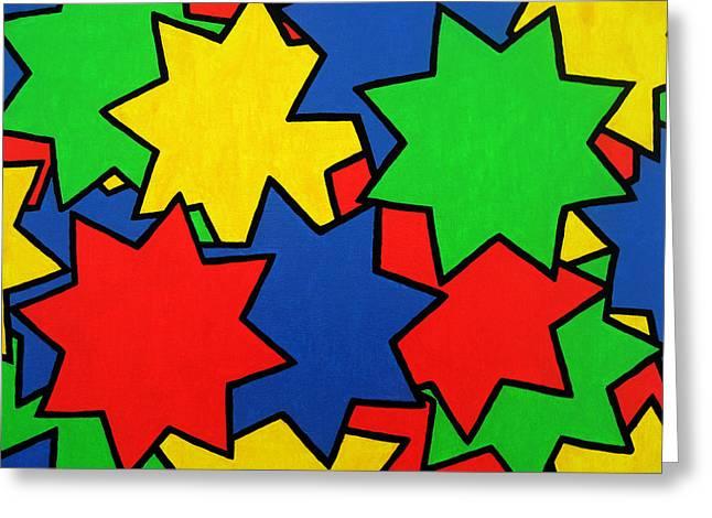 Starburst Greeting Card by Oliver Johnston