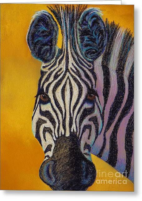 Africa Pastels Greeting Cards - Stare Down Greeting Card by Tracy L Teeter