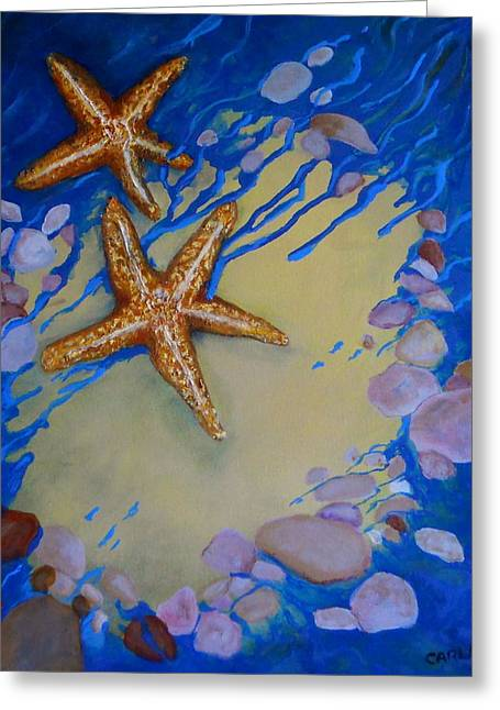 Stein Paintings Greeting Cards - Starfish Greeting Card by Carla Stein
