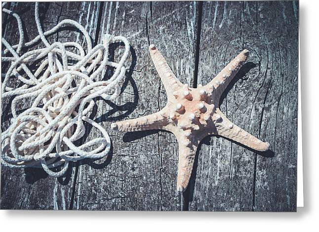 Starfish On A Dock Greeting Card by Colleen Kammerer