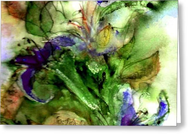 Starflower Greeting Card by Anne Duke