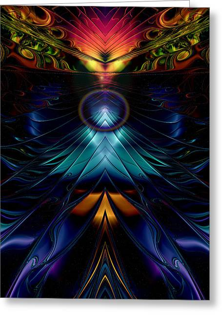 Stargate Symmetrical Abstract Greeting Card by Sharon and Renee Lozen