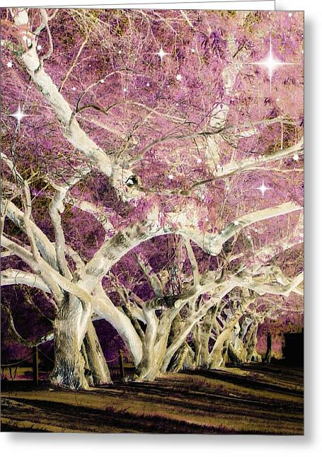 Fantasy Tree Greeting Cards - Stargazer Greeting Card by Lisa S Baker