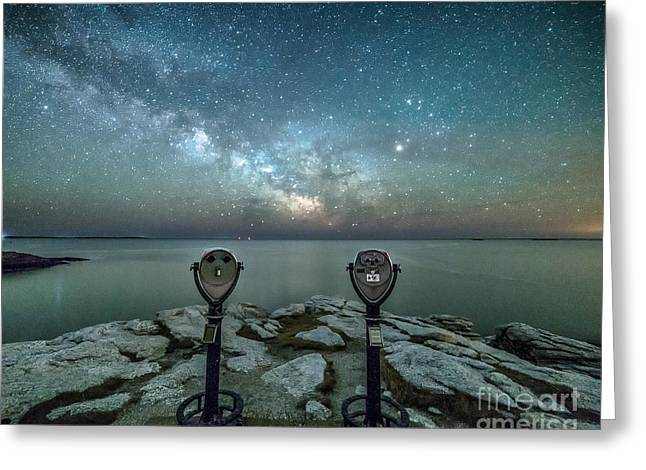 Mid-coast Maine Greeting Cards - Stargazers Greeting Card by Benjamin Williamson