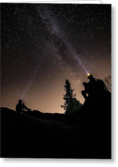 Stargazing At The Cascades With Dave Greeting Card by Jakub Sisak