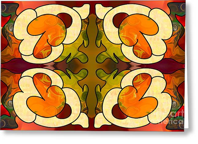 Staring Into The Abyss Abstract Art By Omashte Greeting Card by Omaste Witkowski