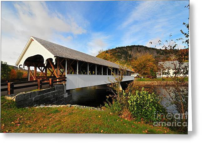 Stark Covered Bridge  Greeting Card by Catherine Reusch  Daley